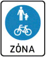Gyalogos és kerékpáros övezet